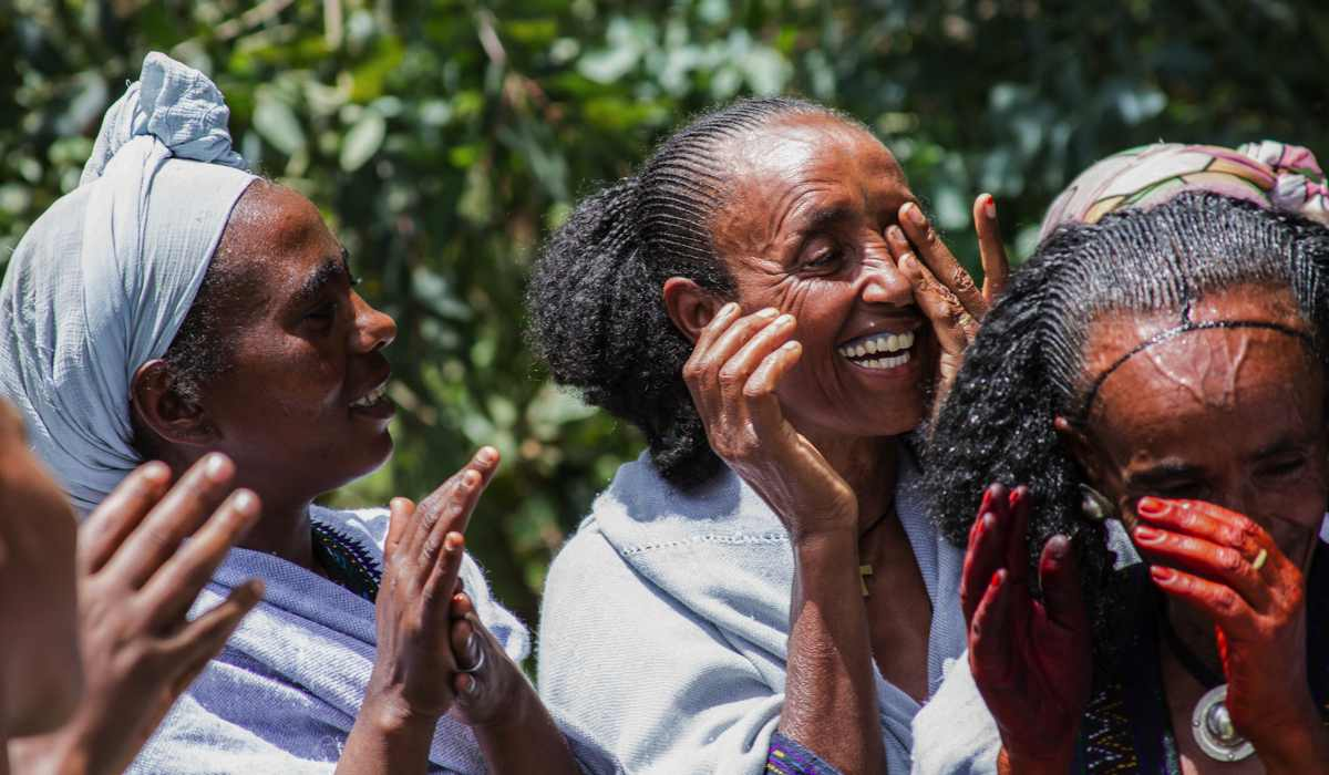 HIV-Positive mother mentors celebrating 'Ashenda' in Tigray, Ethiopia. ©MSH/Genaye Eshetu