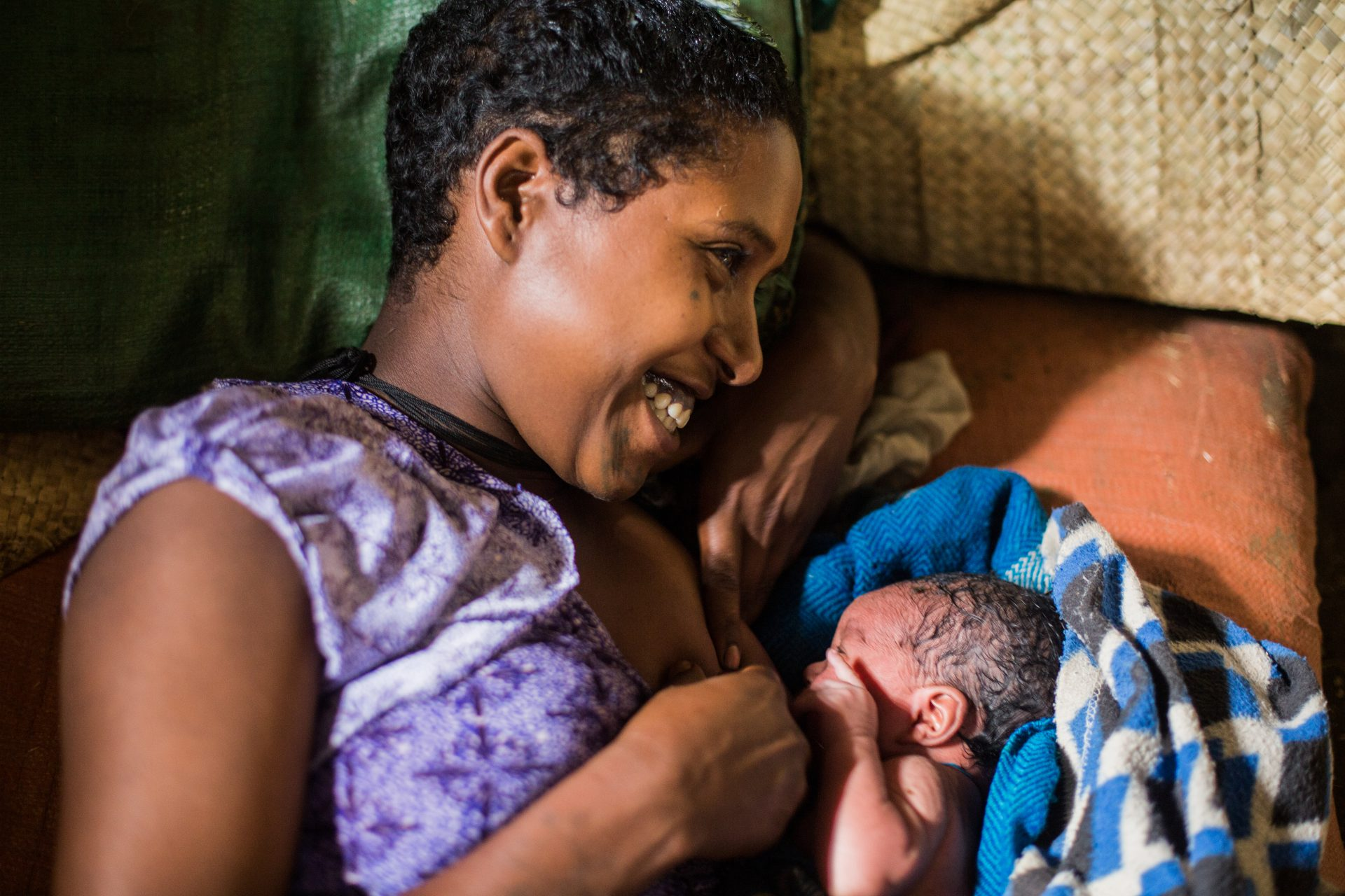 Tiru Tefera, 18, with her new born first son. ©WaterAid/Genaye Eshetu Read more